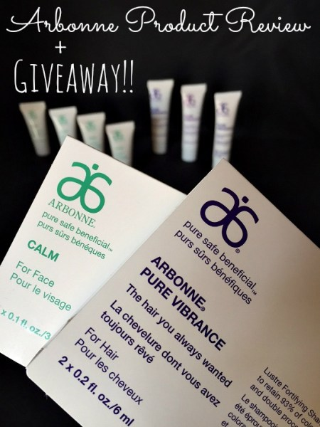 Arbonne Product Review plus giveaway