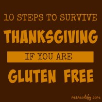 how to survive Thanksgiving if you're gluten free