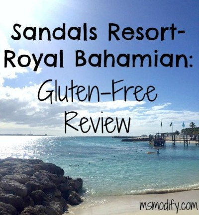 Sandals Resorts gluten free accomodations
