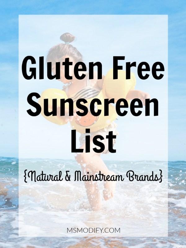 Gluten free sunscreen list