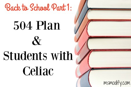 504 plan and students with celiac