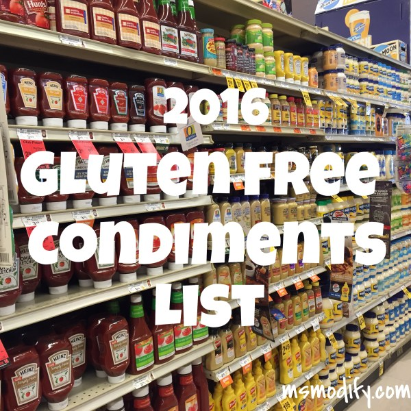 Gluten free condiments list