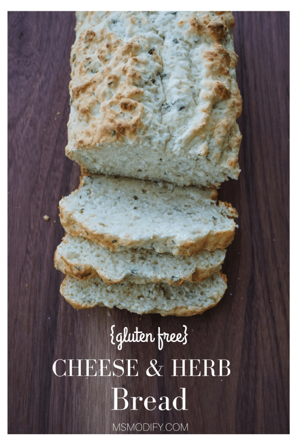 gluten free cheese & herb bread