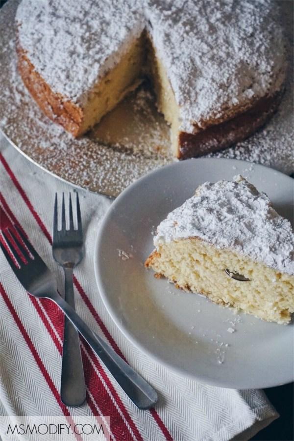 gluten free Vasilopita-Greek lucky New Year's Cake