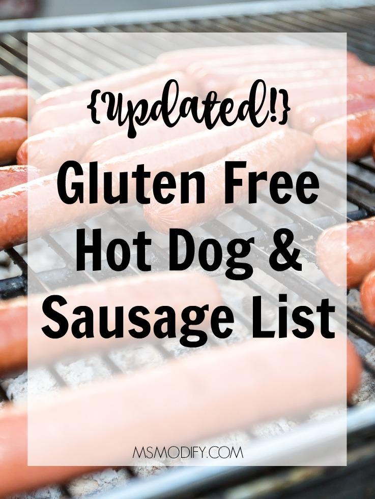 Gluten Free Hot Dog & Sausage List - MsModify