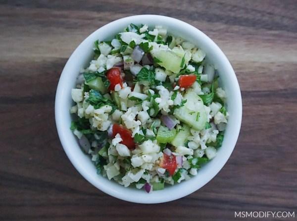 Cauliflower Rice Tabbouleh