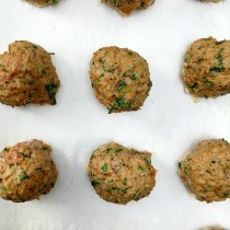 Oven Baked Turkey Meatballs