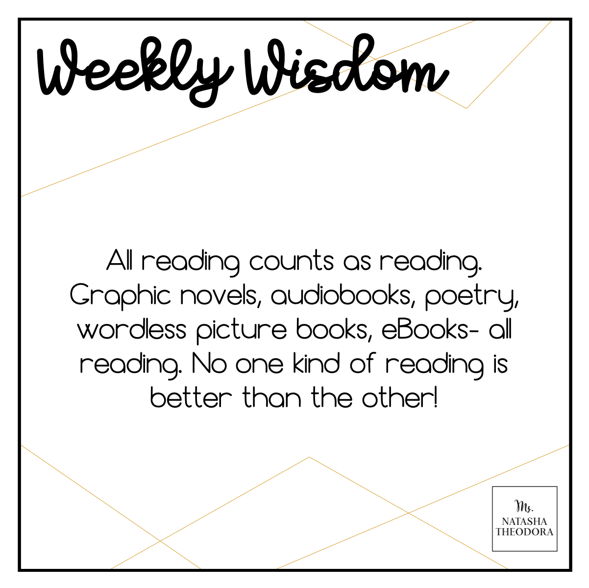 All reading counts as reading. Graphic novels, audiobooks, poetry, wordless picture books, eBooks-all reading. No one kind of reading is better than the other.