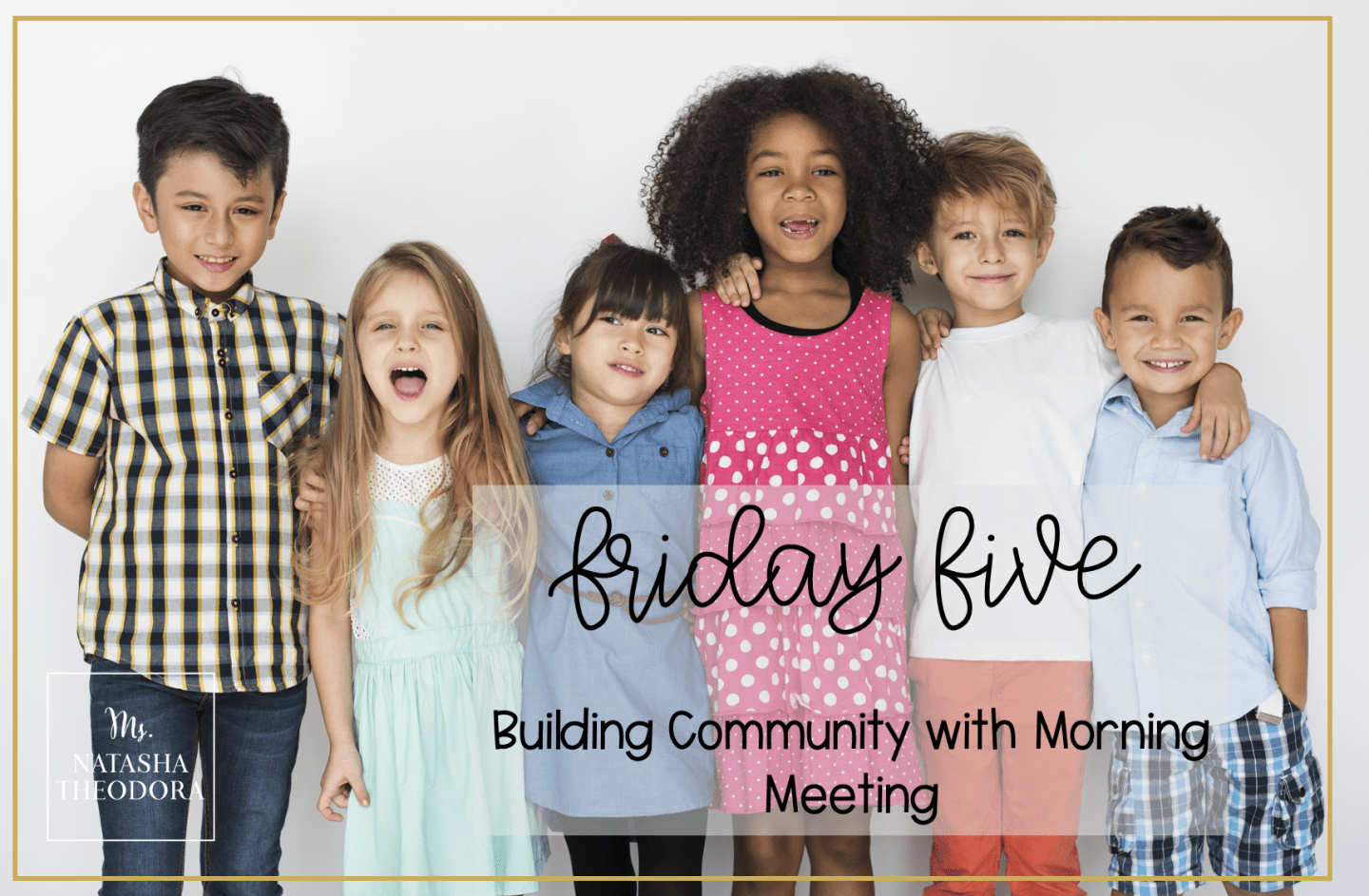 Kids standing together to build community in morning meeting