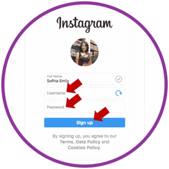 Create Instagram Account on PC