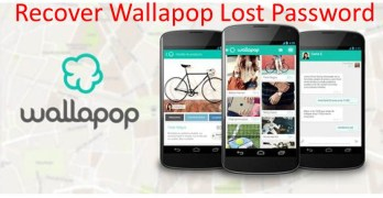 Recover wallapop lost password