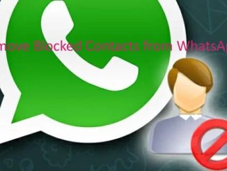 remove blocked contacts from Whatsapp forever