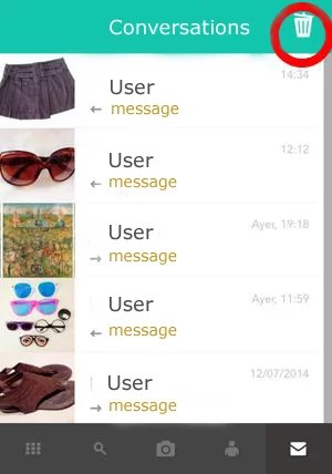 steps to delete messages from wallapop