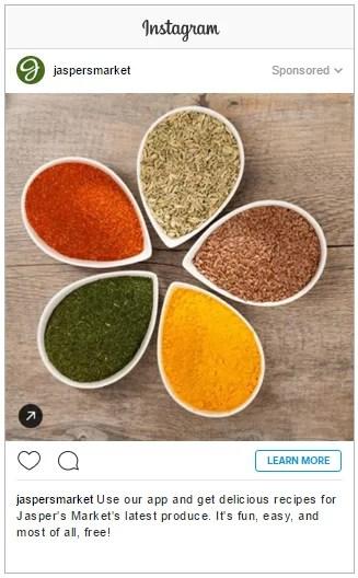 Instagram photo ad example