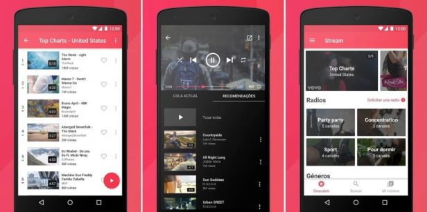 YouTube streams Music Player