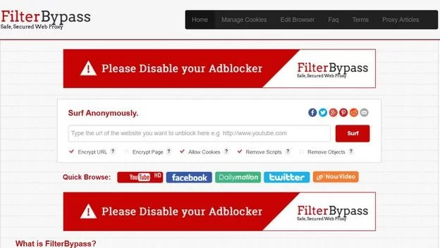 filter bypass best free proxy 2017
