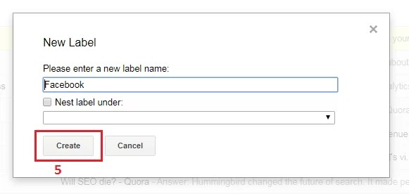 How to create labels in Gmail 3