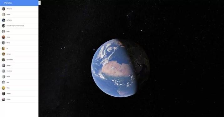google maps space planets satellites