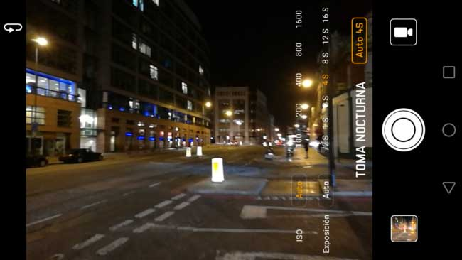manual night mode interface