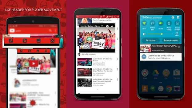 youtube background android