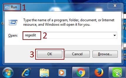 access windows registry key
