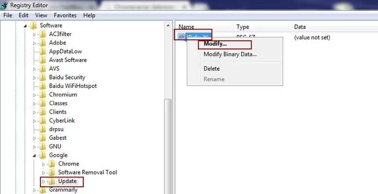 modify default key