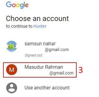 select gmail email account