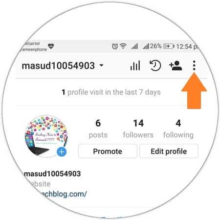 Access Instagram Setting
