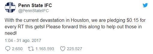 Penn State IFC Tweet - Ariana Grande Tweet - Most Shared and Like tweets of 2017