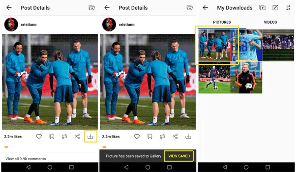 Download Instagram Stories without screenshot Step7