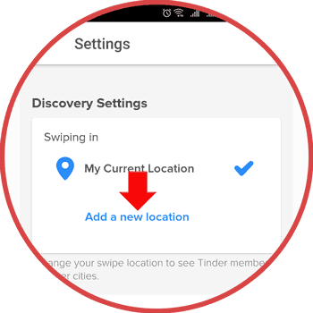 How to change tinder location