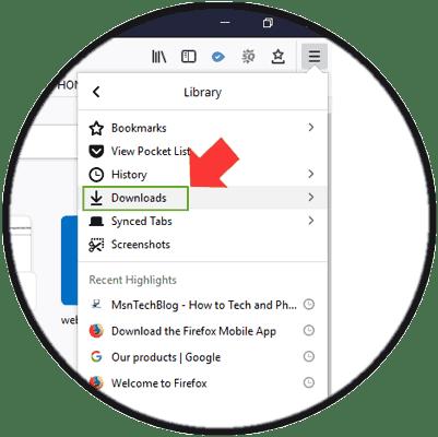 access firefox quantum download folder