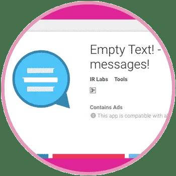 Empty Text Android App WhatsApp