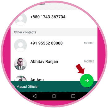 Click WhatsApp Send Button