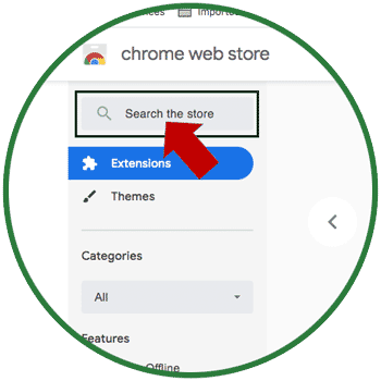 search chrome web store