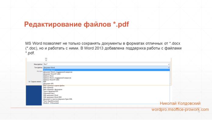 Редактирование .pdf в Word