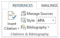 bibliography ms word 2013