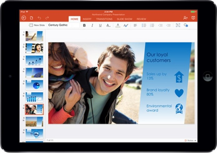 PowerPoint для iPad