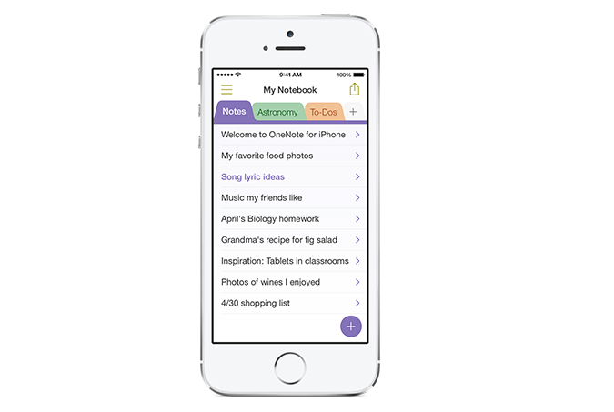 OneNote on iPhone