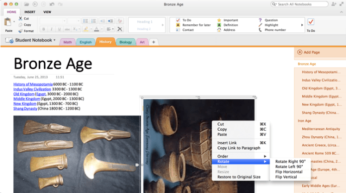 OneNote on Mac