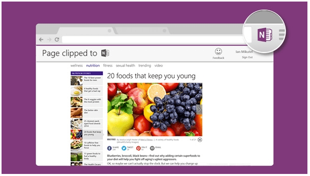 OneNote Clipper для Google Chrome