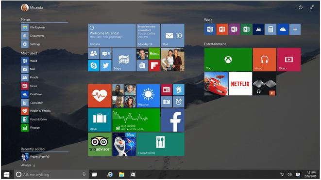 """Меню """"Пуск"""" в Windows 10"""