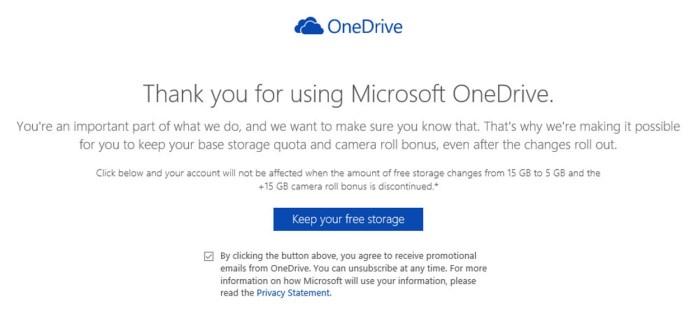 Уменьшение места в OneDrive
