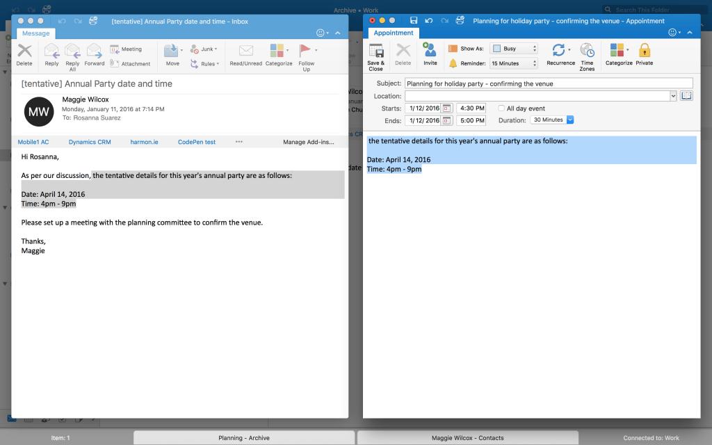Outlook для Mac