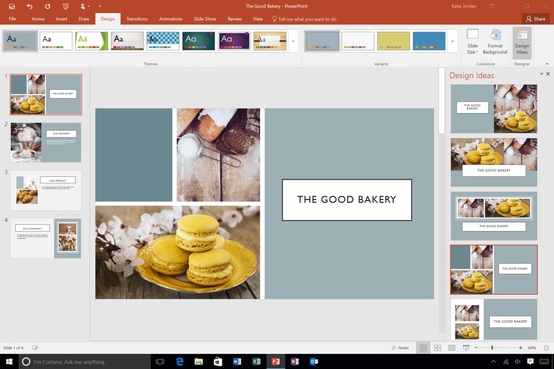 PowerPoint Designer несколько картинок