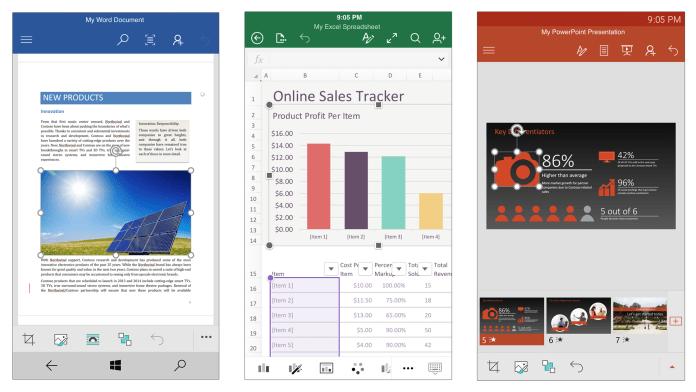 Мобильные офисные приложения теперь с быстрыми командами