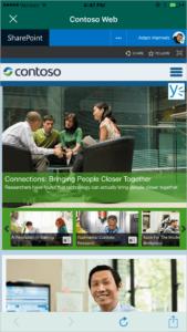 Пример сайта Contoso Web