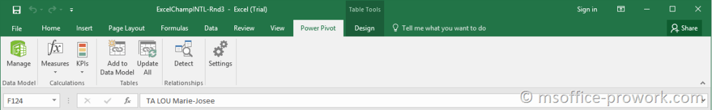 Команды вкладки Power Pivot