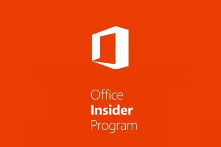 Декабрьское обновление по программе Office Insider выпущено в медленное кольцо