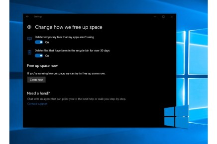 Очистка диска автоматически с Windows 10